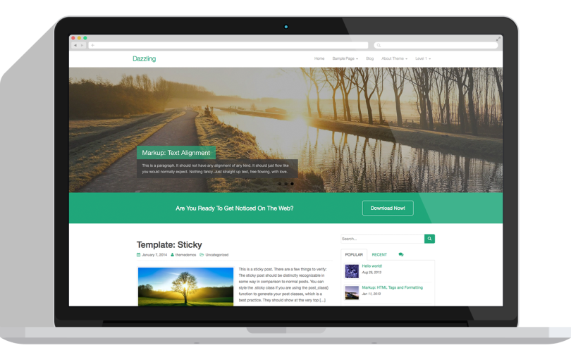 Dazzling-wordpress-theme-free