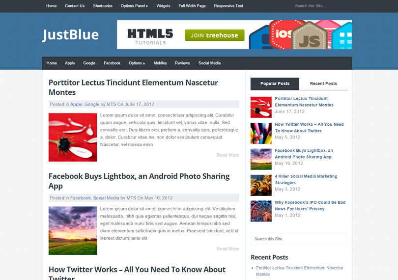 JustBlue-theme-wordpress